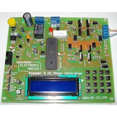 برد کنترلر موتورهای پله ای (استپر موتور) و موتورهای DC (مینی PLC) مدل NSC110