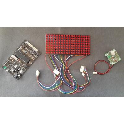کیت تابلو LED کامپیوتری پیشرفته با استفاده از میکروکنترلر AVR ATMEGA32A دارای سه مد کاری